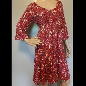 Lucky Brand | Flowy Floral Dress, Size M